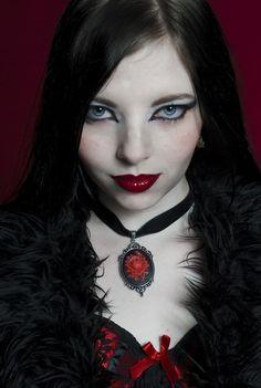 goth gothic vampire alternative lolita dark makeup dress skirt heels beautiful pretty sexy girl woman fetish