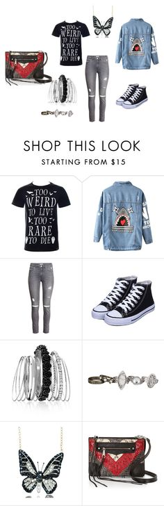 """I'mweird"" by k-loverrzers-bunnyz ❤ liked on Polyvore featuring Chicnova Fashion, H&M, Avenue, maurices, Andrew Hamilton Crawford and Rebecca Minkoff"