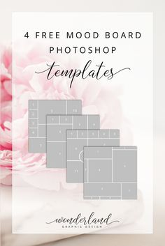 Get these four free mood board templates for Photoshop and create beautiful inspiration boards. Perfect for wedding planners, professionals and bridal businesses to put together wedding ideas and share them on Instagram and other social media.