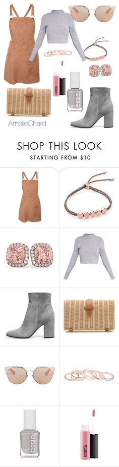 """Tan n' Grey"" by featherofdarkness on Polyvore featuring Pilot, Monica Vinader, Allurez, J.Crew, Christian Dior, Kendra Scott and Essie"