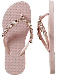 Women's Fashion-Jeweled Flip-Flops.  Pink Junk Jewel.  OLD NAVY