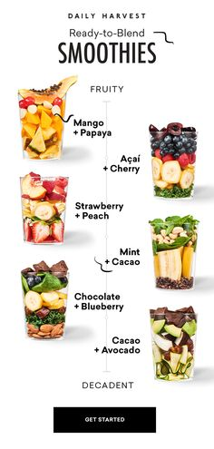 A sip above the rest. Our smoothies are nourishing, meticulously sourced and crafted, and seriously delicious (did we mention pretty dang easy, too?) Healthy Smoothies, Healthy Drinks, Smoothie Recipes, Healthy Snacks, Healthy Eating, Daily Harvest Smoothies, Detox Drinks, Good Healthy Recipes, Healthy Meal Prep