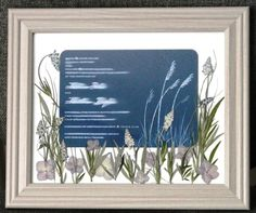 Framed Wedding Invitation Keepsake Used An Up Right Design To Complement Long Greasy Print On
