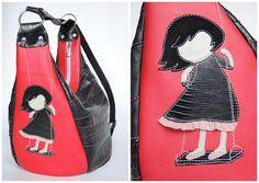 "Made by Arina Rasputina: Сумка-рюкзак ""Девочка на качелях"""