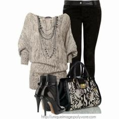 Fall Outfit Wide Neck Sweater and Black Velvet Pants