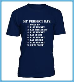 perfect hockey day T shirt best sport team player gift