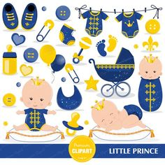 Prince baby shower clipart, baby prince clipart, prince baby clip art, royal baby, little prince gra Baby Shower Clipart, Baby Shower Printables, Clipart Baby, Simple Baby Shower, Baby Shower Fun, Custom Party Invitations, Cowboy Baby Shower, Baby Ladybug, Baby Shower Advice