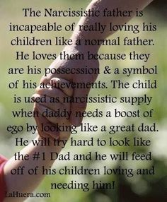 Narcissistic father, abuser