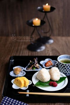 Japanese dishes - Tamagoyaki (rolled omelet) + Onigiri (Rice Balls)