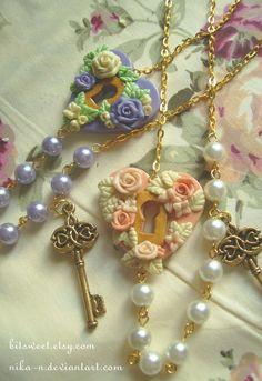 Maiden Garden necklace II by *Nika-N on deviantART