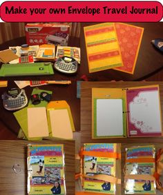 Paper Crafts: Envelope Travel Journal  http://www.craftsy.com