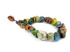 BARGAIN BUNDLE - Ceramic Clay Bead Mix - Craft Jewellery Beads  No. 36