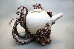 "Saatchi Online Artist: Mary O'Malley; Ceramic, Sculpture ""Bottom Feeder Teapot Two"""