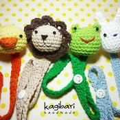 Duck-Lion-Rabbit-Frog Pacifier Holders - via @Craftsy