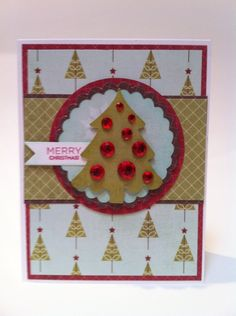 This is such an easy card that I could make with Cricut Craft Room Basics.