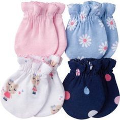Free 2-day shipping on qualified orders over $35. Buy Gerber Newborn Baby Girl Assorted Mittens, 4-Pack at Walmart.com