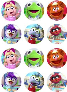 Make your event special with edible images! Baby Cupcake Toppers, Baby Cake Topper, Cupcake Picks, Muppet Babies, Baby Birthday Cakes, Boy Birthday Parties, Birthday Ideas, Baby Party, Baby Disney