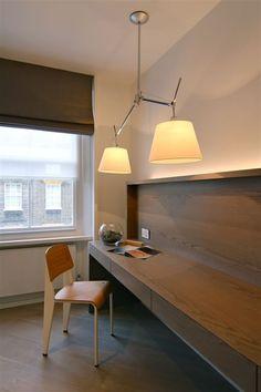 Artemide Tolomeo - for kitchen. Prefer black lamp shade, though