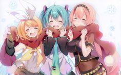 Descargar fondos de pantalla Kagamine Rin, Hatsune Miku, Megurine Luka, 4k, personajes de anime, manga, Vocaloid