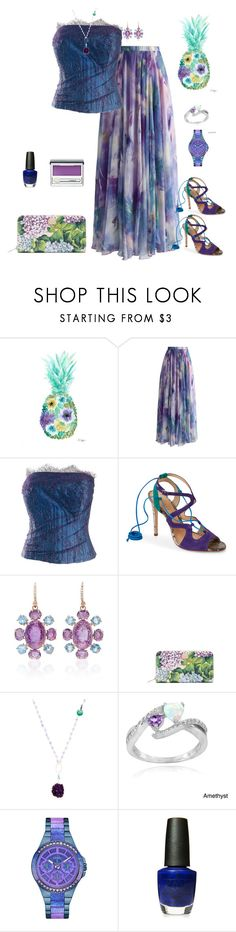 """Purple Blues❣💙"" by parnett ❤ liked on Polyvore featuring Chicwish, Schutz, Bounkit, Dolce&Gabbana, Alanna Bess, Glitzy Rocks, GUESS, OPI and Clinique"