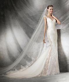 Tamar, vestido de novia de encaje y estilo sirena