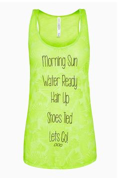 Tropicana Tank in Hyper Lime xx looove this, this literally is me every morning - except sundays :) #LJWISHLIST