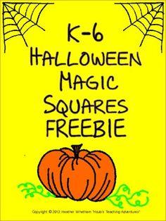 K-6 Halloween Magic Square FREEBIE