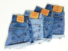 Vintage Levi High Waisted Denim Shorts