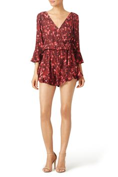 Floral Foliage Romper by Free People Beach Vacation Packing List, Rent The Runway, Dress Images, Hemline, Free People, Rompers, Silk, Celebrities, Long Sleeve
