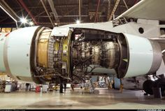 Airbus A330-300 during engine inspection