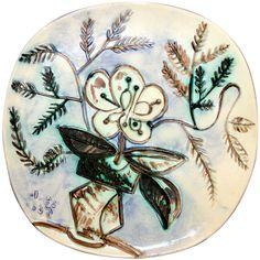 "1stdibs.com | Picasso Ceramic Plate ""Vase Bouquet"" 1956 France"