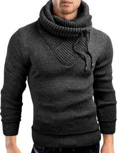 Grin&Bear Slim Fit shawl collar knit sweatshirt cardigan hoodie
