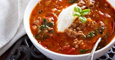 Lasagna soup for bariatric eating