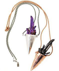 Pamela Love crystal spike necklaces.