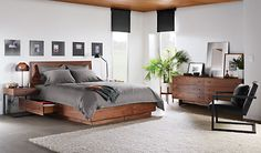 Hudson Bed with Storage Drawers - Beds - Bedroom - Room & Board