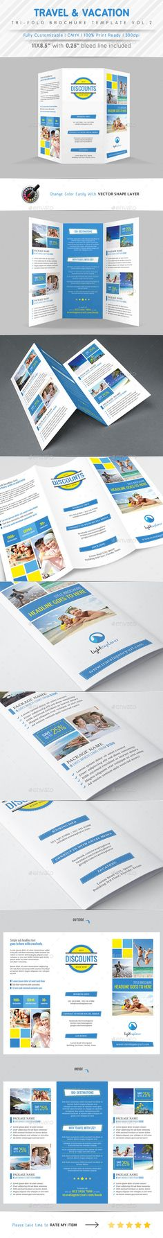 Cruise Travel Brochure Illustrator Template by @StockLayouts - sample travel brochure