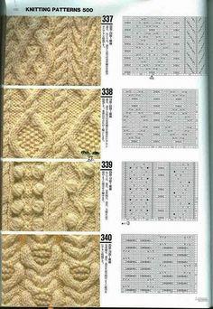 Узоры спицами, knit, knitting - Tatiana Alexeeva - Picasa Web Albums - knitting stitches with chart Knitting Machine Patterns, Knitting Stiches, Knitting Charts, Lace Knitting, Knitting Needles, Knit Patterns, Crochet Stitches, Stitch Patterns, Knitting Projects
