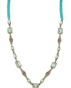 MINT STONE LINKS BRAID NECKLACE MINT accessories jewelry necklaces fashion