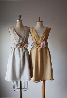 mismatched bridesmaid dresses / Dress / Bridesmaid / Romantic /  tan /lace /blush  / Fairy / Dreamy / Bridesmaid / Party / wedding / Bride. $99.99, via Etsy.