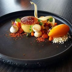   White Chocolate Creme Brulee and Sea Buckthorn Sorbet   By @vidal31 . #simplisticfood Or Dm/Tag Me In Your Latest Dish, For A Chance To Be Featured On @simplistic_food