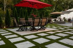 Grass Tech Fills In The Gaps: Synthetic Turf And Patio Pavers.