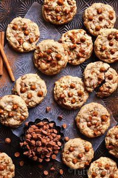 Brown Butter Oatmeal Cinnamon Chip Cookies | Tutti Dolci