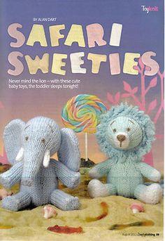 *~Alan~Dart's~Sweet~Animal~Toys~Knitting~Pattern~*