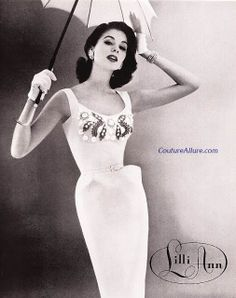 Couture Allure Vintage Fashion: Another Lilli Ann Dress - 1956