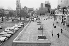 Cathedral Square, Christchurch, after alterations, photographed circa 24 July 1973