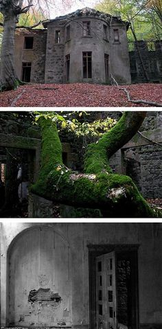 Deep in the forests of Aberdeenshire, Scotland, this abandoned mansion looks like it wouldn't be out of place in a horror film, with its amazing nineteenth century architecture left to crumble away over time. Little is known about this mysterious house, but it is believed to have stood empty for over 70 years, abandoned soon after World War One.