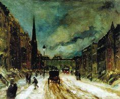 Robert Henri (1865-1929), Street Scene with Snow (57th Street, N.Y.C.) - 1902