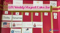 DIY Weekly Magnet Calendar (2)