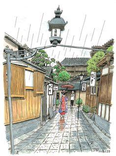 京都  石塀小路  Ishibei-koji, Kyoto