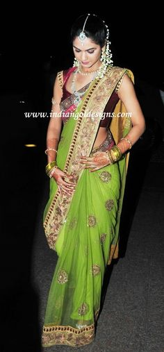 Latest Saree Designs: sneha reddy bridal sarees